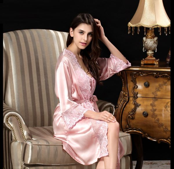 A high-quality silk robe will gently pamper your skin